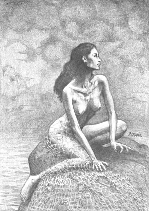 Dyktaina, the goddess of sea people by Vasilis Zikos