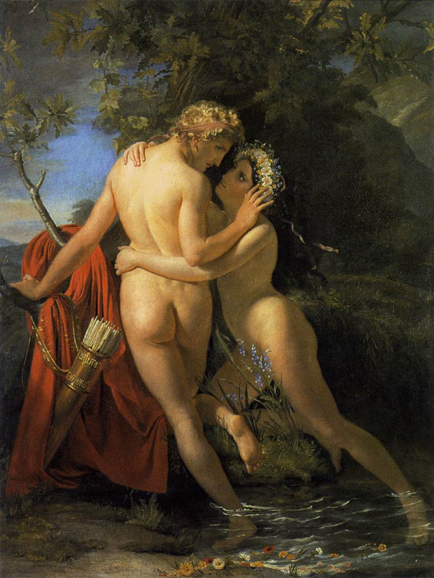 The Nymph Salmacis and Hermaphroditus, by Francois Navez